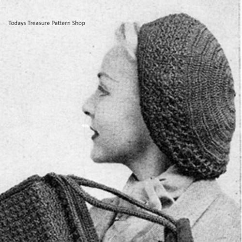 Vintage Crocheted Beret Pattern