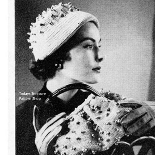 Crochet Polka Dot Cloche & Handbag Pattern