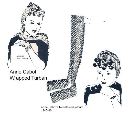 Free Turban Crocheted Scarf Pattern, Anne Cabot Mail Order