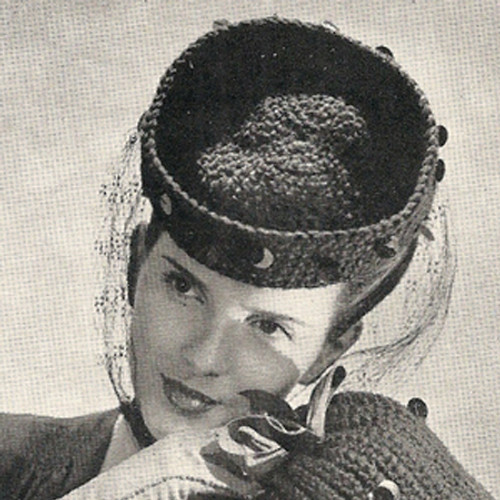 Vintage Paillette Trimmed Hat Pattern