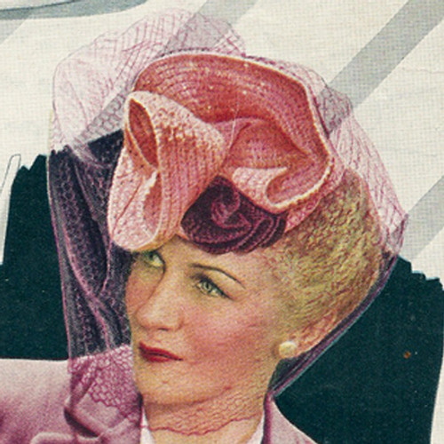 Crochet Veiled Art Hat Pattern, Vintage 1950s