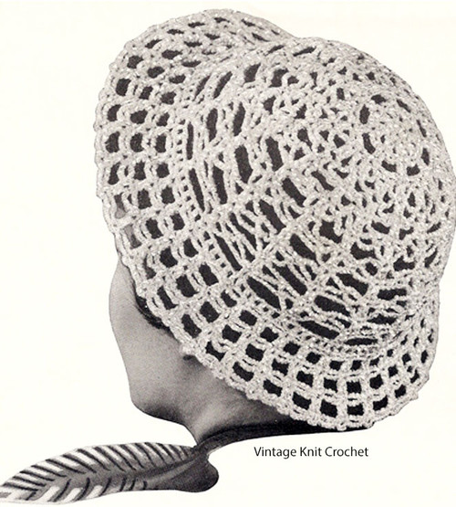 Vintage Crocheted Lacy Hat Pattern