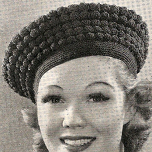 Crochet Beret Pattern in Shell Stitch