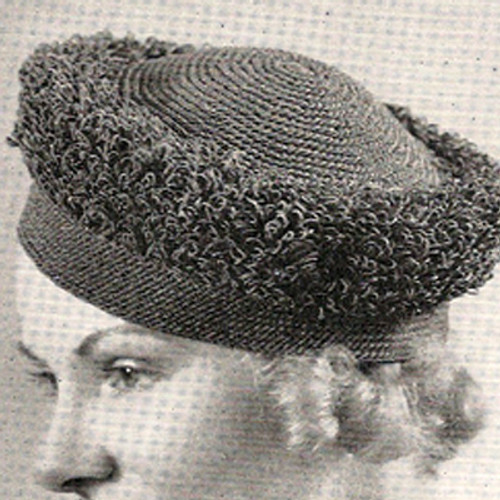 Vintage Crochet Looped Turban Hat Pattern