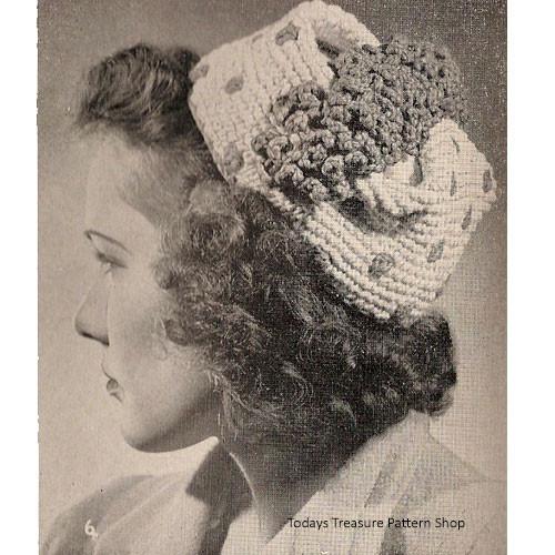 Polka Dot Pillbox Hat Crochet Pattern