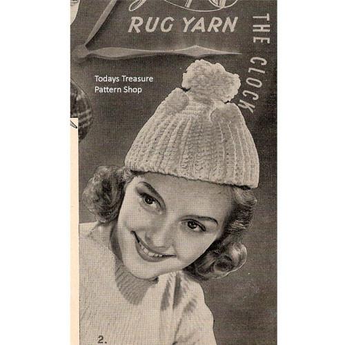 Crochet Beanie Hat with Pompom