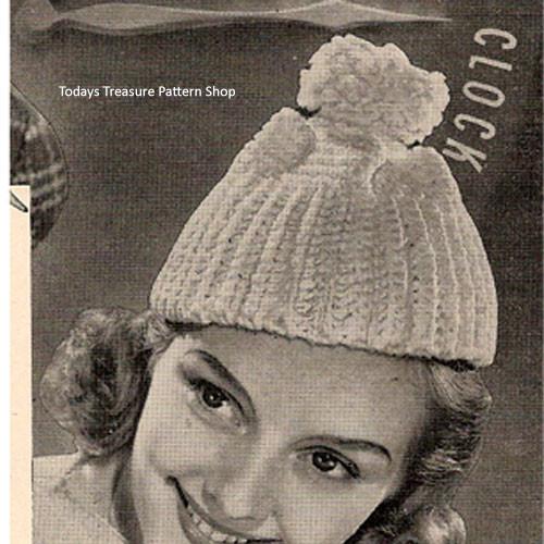 Easy Beanie Cap Crochet Pattern, Vintage 1930's