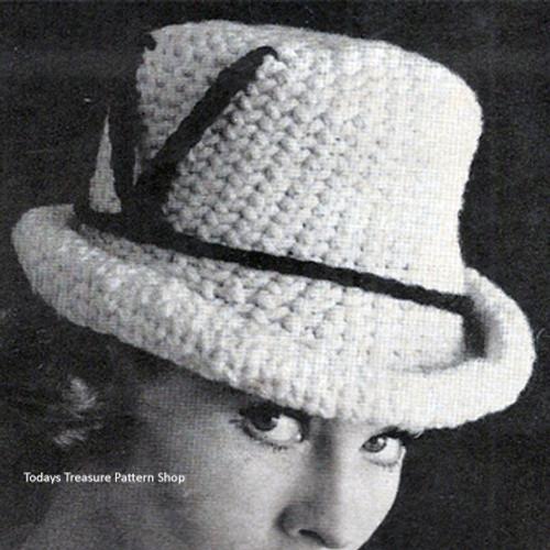 Crocheted Fedora Hat Pattern