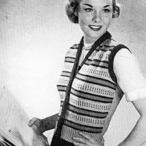 Colorful Striped Vest Knitting Pattern