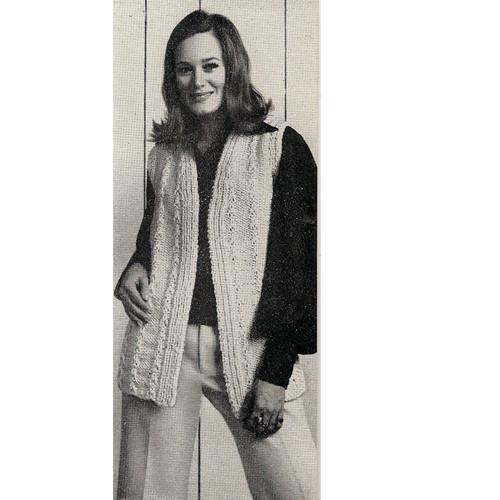 Knitted Vest Pattern, below hip