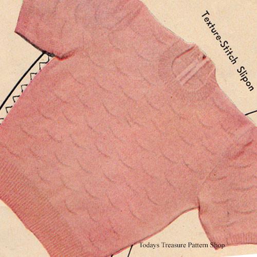 Vintage Pink Sweater Knitting Pattern