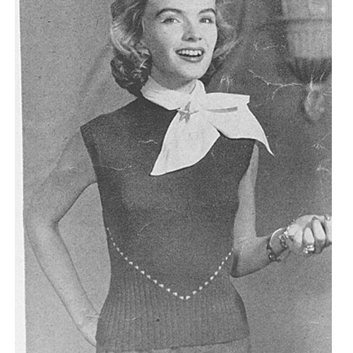 Sleeveless Pullover Shell Knitting Pattern