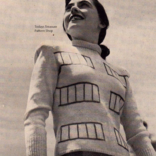 Vintage Stripped Pullover Knitting Pattern