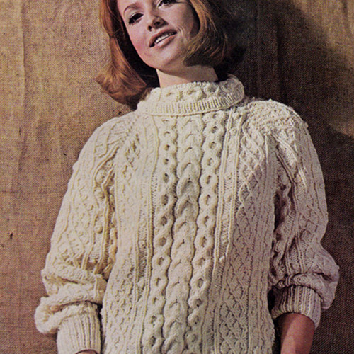 Vintage Cable Turtleneck knitting pattern