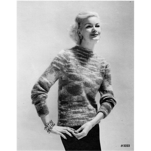 Vintage Knit Mohair Sweater Pattern