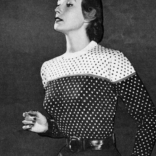 Tone Tone Knitted Sweater Pattern, Vintage 1950s