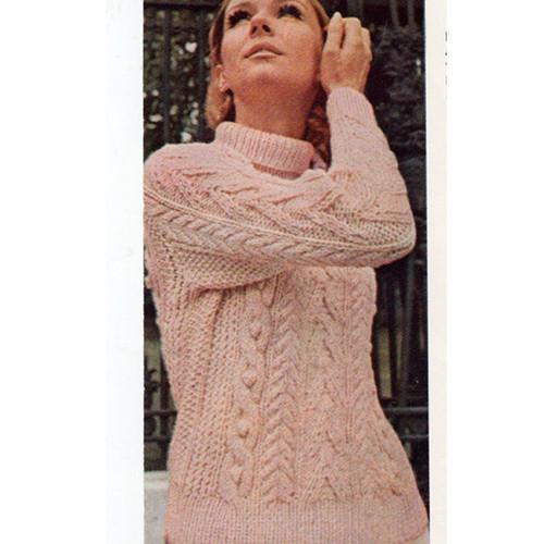 Knitting Pattern Aran Sweater
