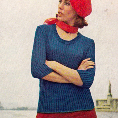 Dawn Sayelle Yarn Knitted Sweater Pattern