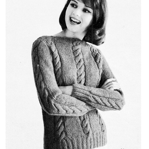 Les Bouquets Knitted Pullover Pattern