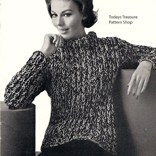 Vintage Bulky Sweater in Knitting Worsted