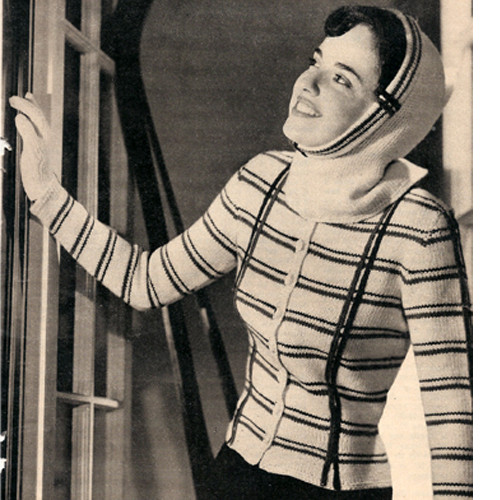 Knitting Pattern, Vintage Fitted Jacket Pattern