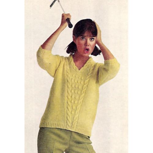V-Neck Pullover Knitting Pattern Brunswick Vivant