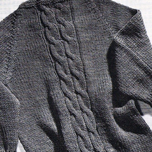 Knitted Cable Sweater in Knitting Worsted Yarn