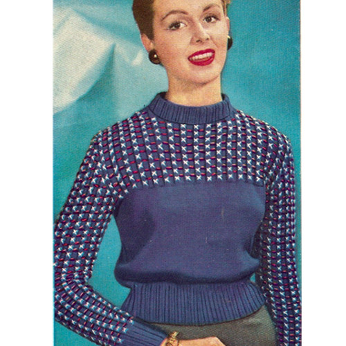 Sport Pullover Pattern Knit Dawn Nylon Yarn