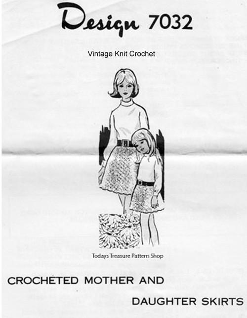Crochet Skirts Shell Stitch Design 7032