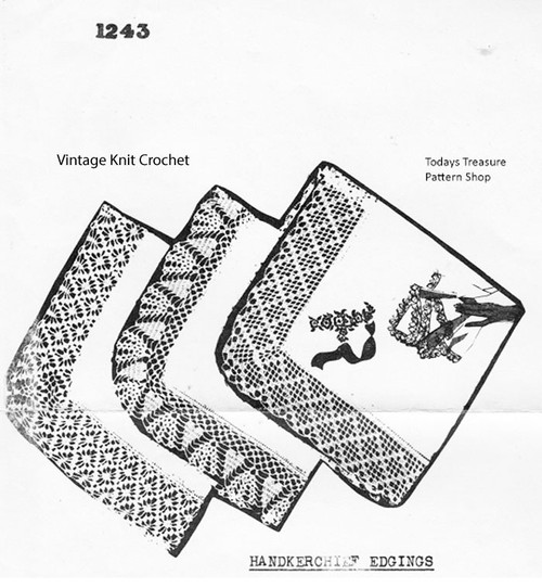 Hearts Crochet Edging pattern No 1243