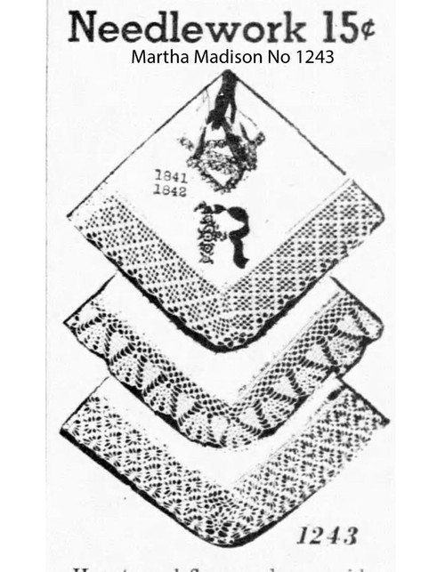 Wide crochet edgings pattern, Mail Order 1243