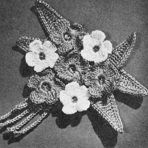 Vintage Crocheted Nosegay Pattern