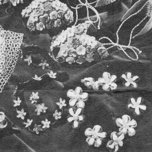 Crochet Flower Hairpiece Pattern