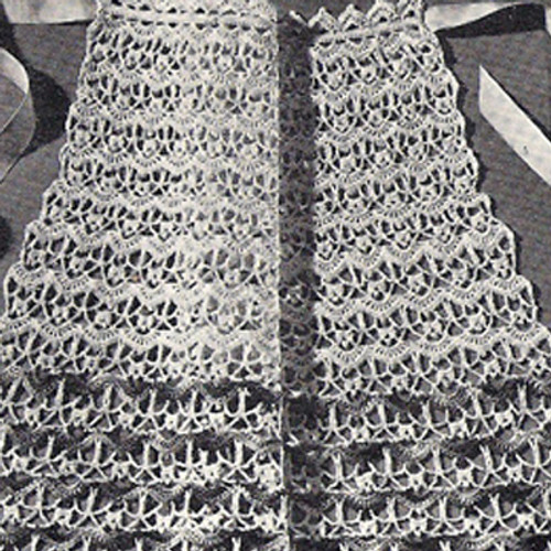Vintage Apron Crochet Pattern with Ribbon Ties