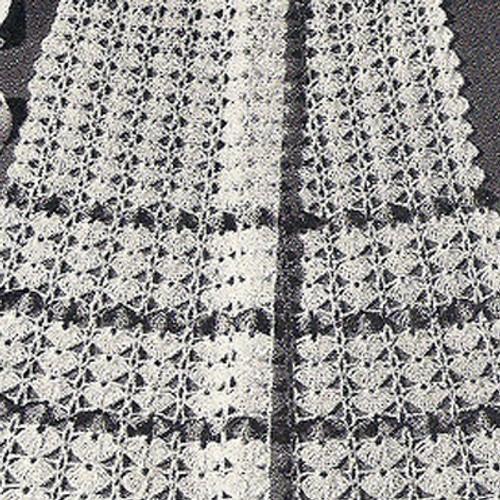 Vintage Flower Crocheted Apron Pattern