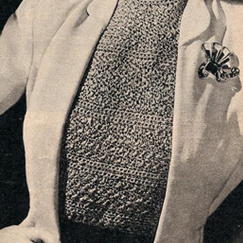 Long Dickey Crochet Pattern, Vintage 1940s