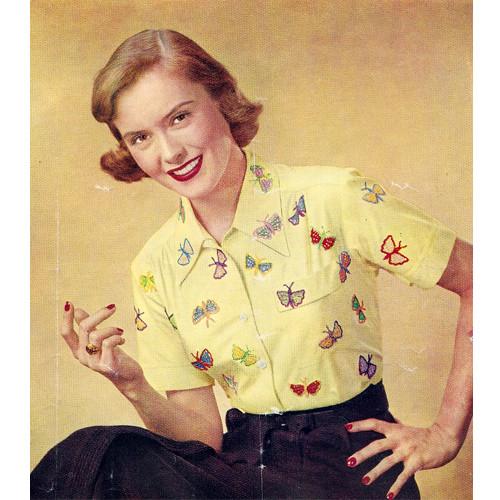 Free Crochet Butterfly Appliques Pattern
