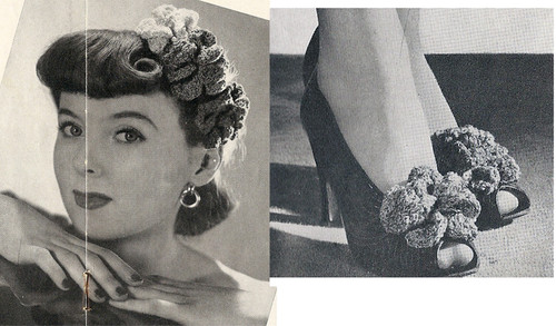 Free Crochet Flowers Pattern for Hair Piece and Shoes