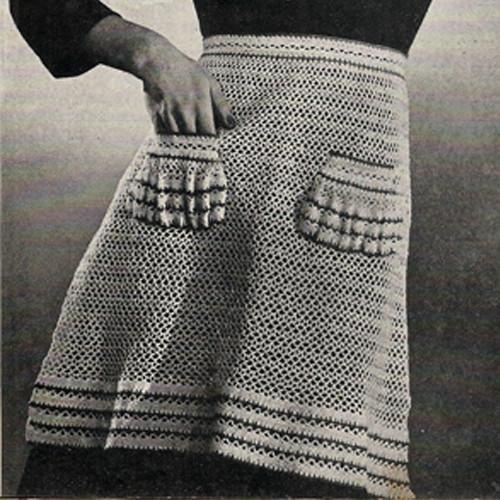 Crochet Half Apron Crochet Pattern with Patch Pockets