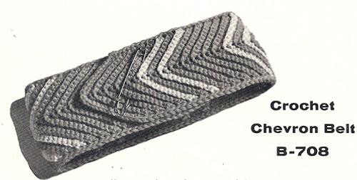 Free Chevron Crochet Belt Pattern