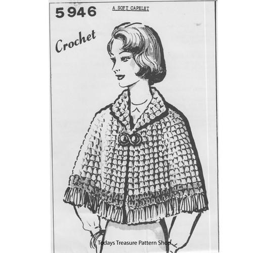 Mail Order Design 5946, Crochet Cape Pattern