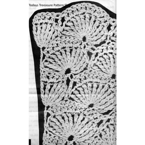 Crochet Shell pattern stitch of shawl