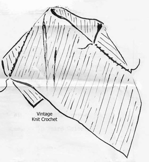 Knitted Poncho Pattern Illustration