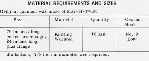 Stripe Cape Crochet Material Requirements