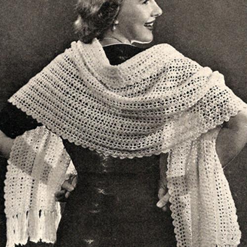 Crochet Shell Lace Shawl Pattern
