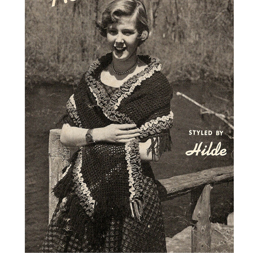 Vintage Hilde Crochet Stole Pattern