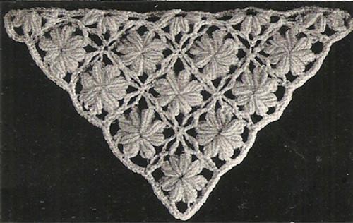 Crochet Medallion Stole Illustration