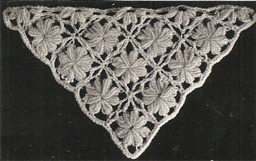Crochet Medallion Stole Illustration