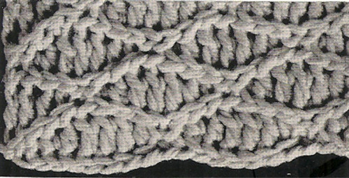 Crochet Bolero Pattern Stitch Illustration