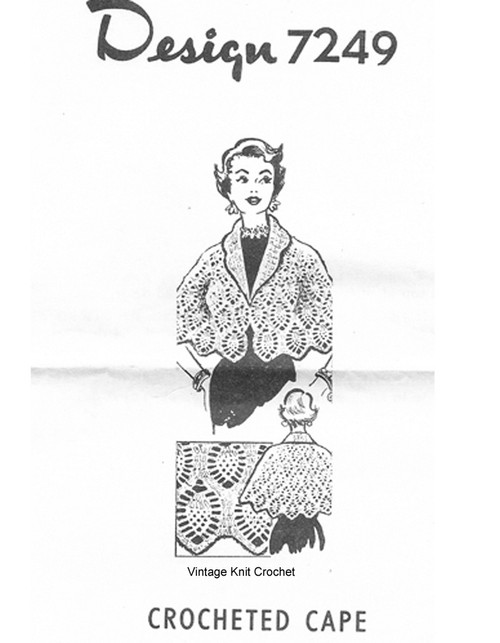 Crochet Pineapple Cape Pattern, Design 7249
